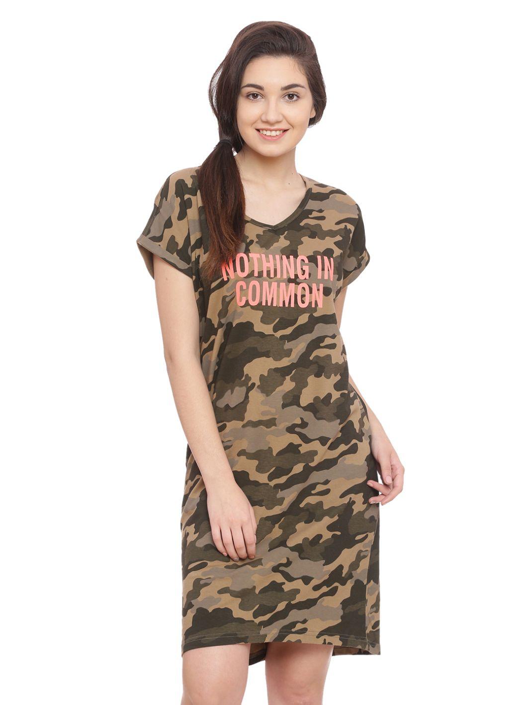 Slumber Jill Nothing in Common Camouflage Sleepshirt
