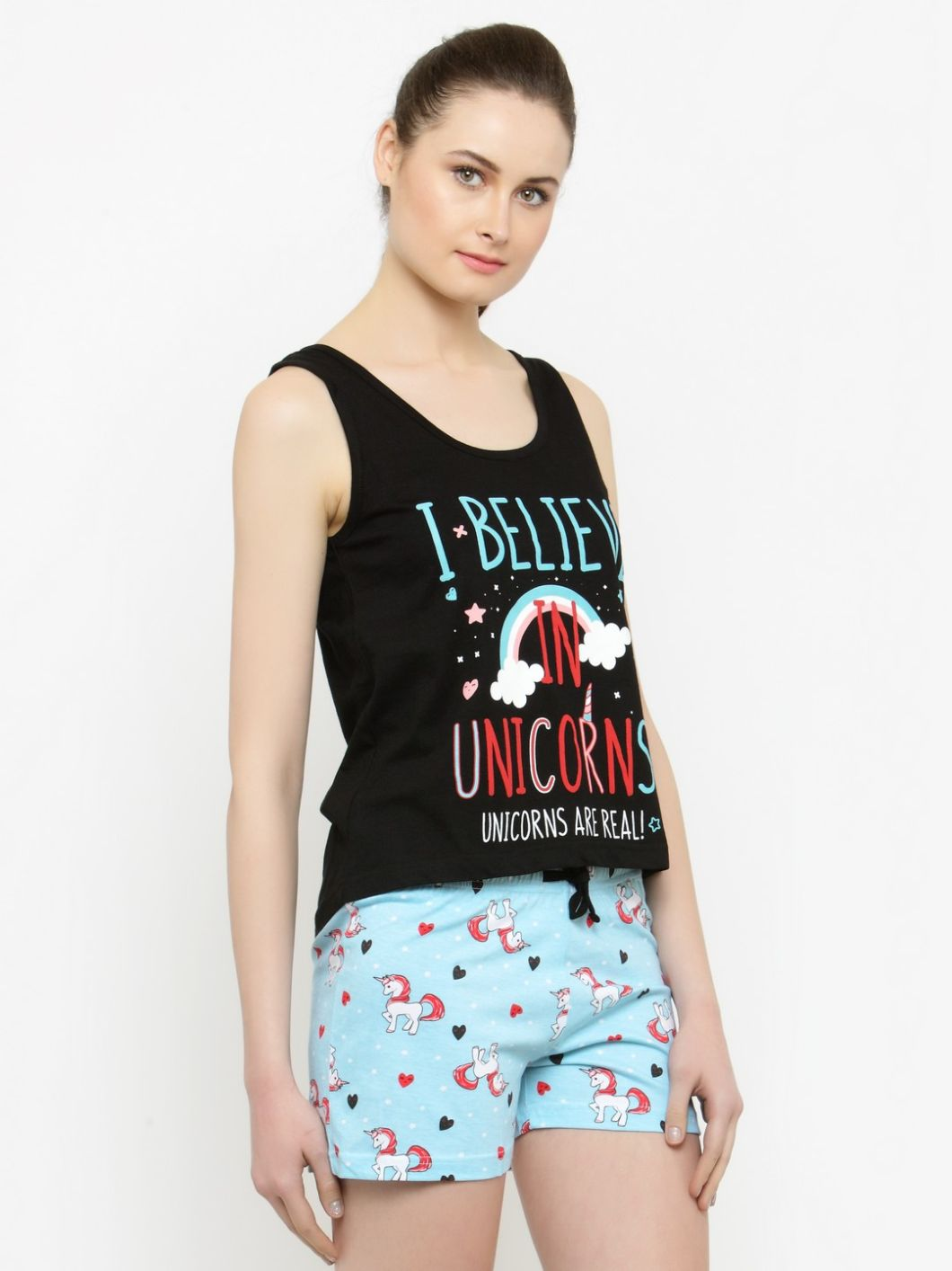 Slumber Jill I Believe in Unicorns Shorts Set