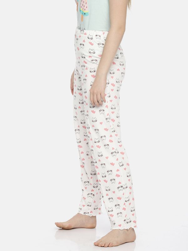 Slumber Jill Cat with a heart Lounge Pant