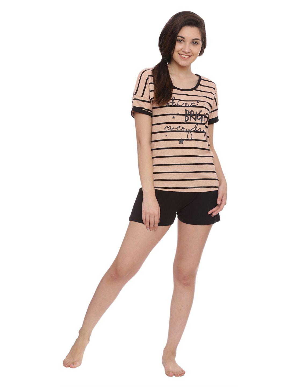 Slumber Jill Cool Girl Stripes Shorts Set