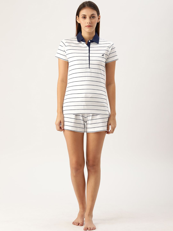 Mariner White / Navy Polo Tee