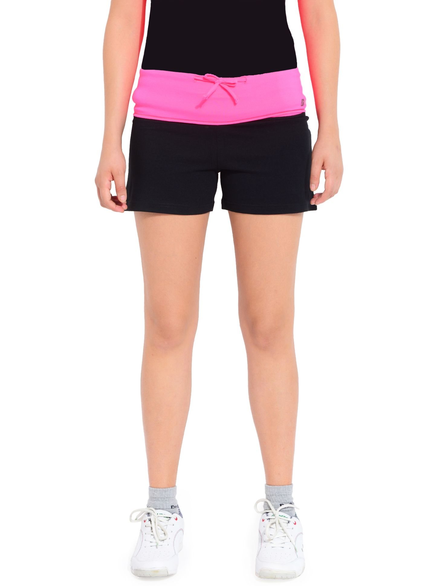 ATIVO Solid Women's Pink, Black Sports Shorts