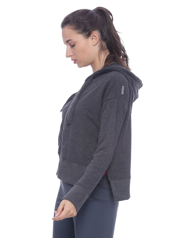 Slumber Jill Reverse Terry Lounge Jacket with Side Slits