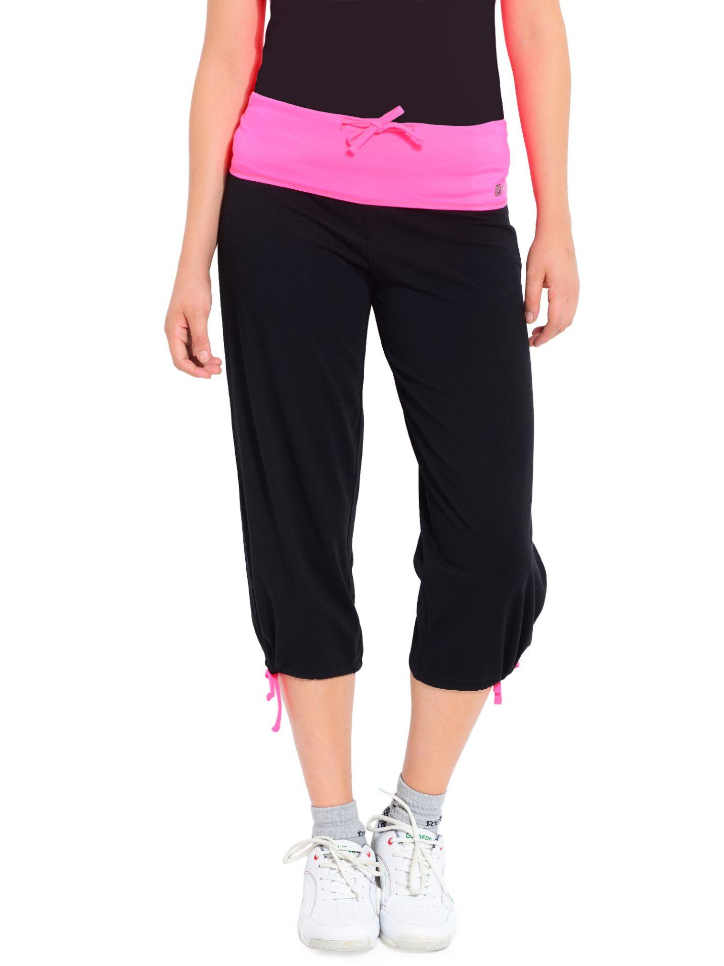 ATIVO Fluo Tie Capri Women's Pink, Black Capri