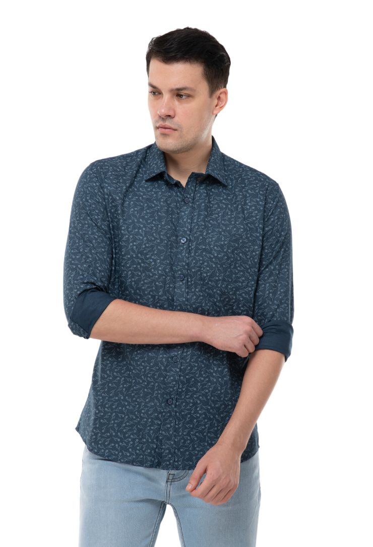 BLUE PRINTED SHIRT-ATM-AU175M