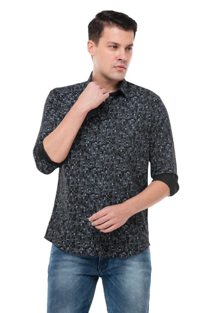 Black Printed shirt-ATM-AU174M
