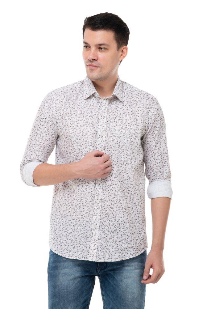 WHITE PRINTED SHIRT-ATM-AU176M