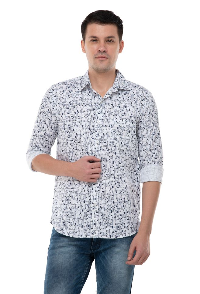WHITE PRINTED SHIRT-ATM-AU173M