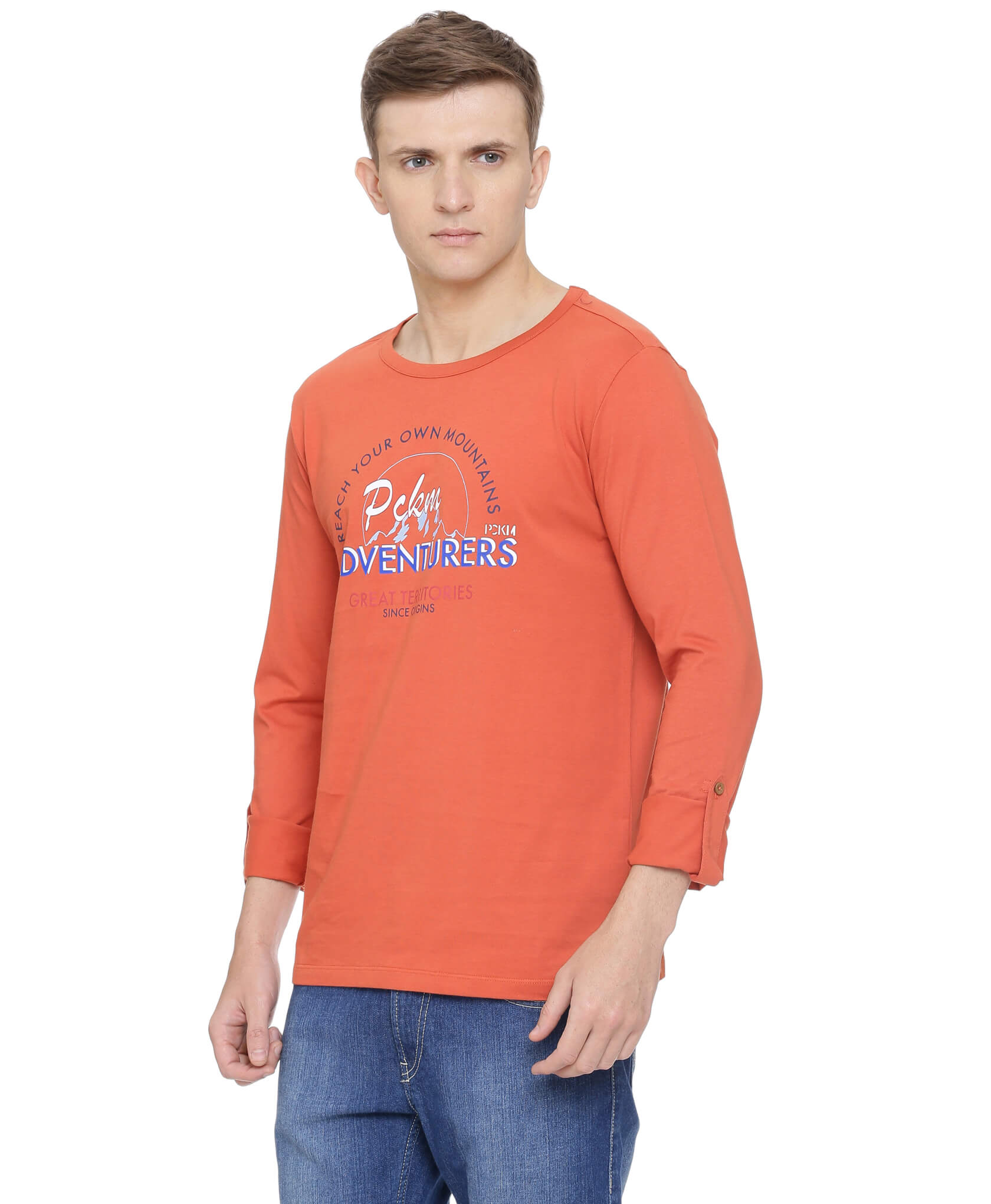 ATIVO PCKM Long Sleeves Tee with Roll Up Sleeves