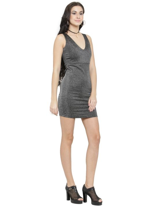 Querida Partywear Black Sleeveless Dress